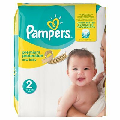 Pampers Premium Protection, Size 2 Newborn (4kg-8kg), 54 Nappies skin protection