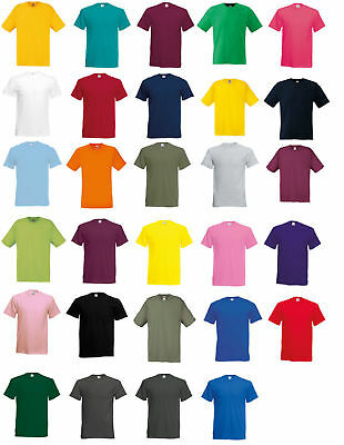 FRUIT OF THE LOOM  MENS 100% COTTON PLAIN MENS T-SHIRT LOT 1 3 5 Packs