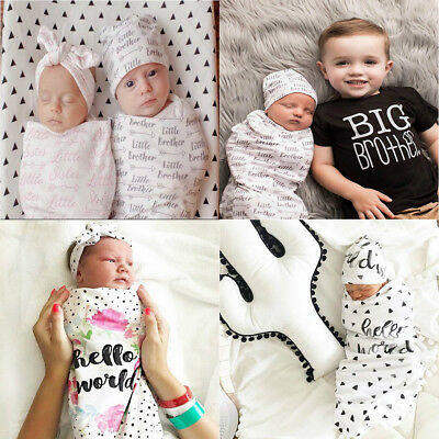 2Pcs/Set Newborn Swaddle Blanket Baby Cocoon Sleeping Bag Muslin Wrap Headband