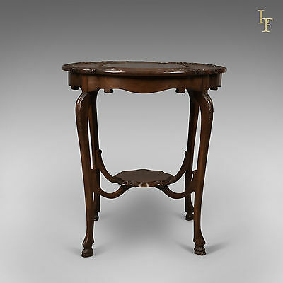 Antique Display Table, Victorian Mahogany, Side, Lamp, English c.1880