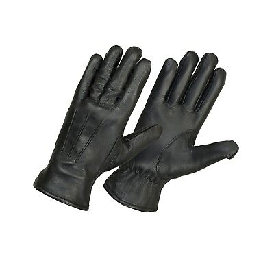 Mens Italian Sheep Nappa Leather Warm Soft Driving Fleece lined winter Gloves