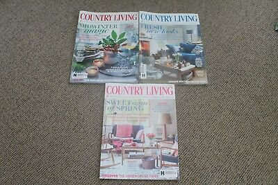 Country Living Magazine - Issues, January, February & March 2017