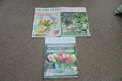 Country Living Magazine - Issues, April, May & June 2017
