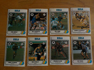 1976 SCANLENS RUGBY LEAGUE CARDS - 105 cards from 12 teams, good condition