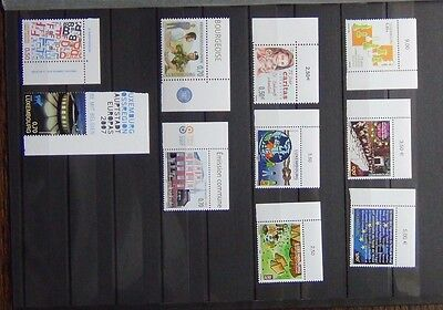 Luxembourg 2006 2007 Commemorative issues Chess Europa Scouts Culture etc MNH
