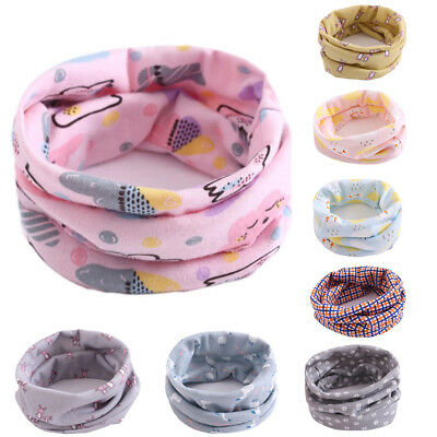Child Kids Baby Girls Boys Cotton Snood Scarf Scarves Neckerchief Warmer Outdoor