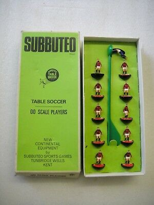 Vintage Retro Subbuteo Table Soccer Football Team REF: 57 AC Milan  Box FREE P&P