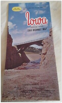Iowa Official State Highway Map 1964