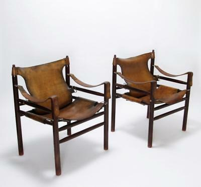 Vintage 1970' Hungarian  Safari Chair  In Manner Of Arne Norell