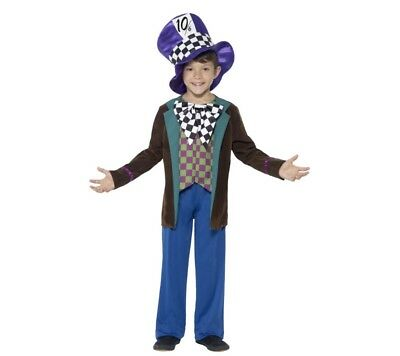 Boys Mad Hatter Deluxe Fancy Dress Costume Book Week Character Smiffys 42842