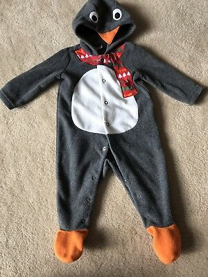 Christmas Penguin Baby Grow 3-6 Months