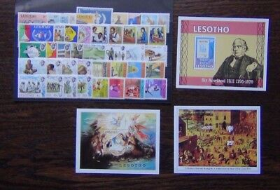 Lesotho 1972 1980 sets Olympics Siege Youth Dancing Rowland Hill University MNH