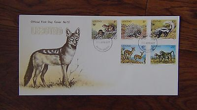 Lesotho 1977 Animals set on First Day Cover
