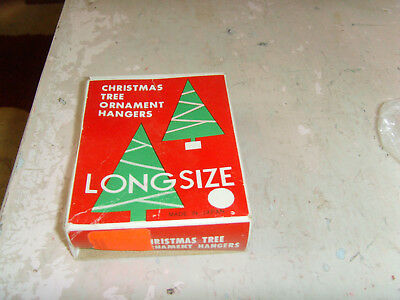 Vintage Christmas Tree Ornament Hangers Long-Size partial box display hooks