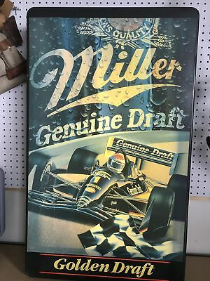 Miller Genuine Draft Light Up Sign- Rusty Wallace #1