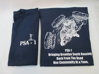 2 NYPD Police Service Area PSA-1 Brooklyn T Shirts Size L
