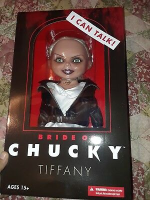 """Mezco toys the Bride of Chucky Talking Tiffany Mega Scale 15"""" doll  in hand now"""