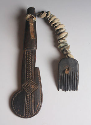 Antique Yoruba Eshu Divination Comb/ Dance Implement!