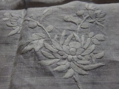 Antique Vintage hand whitework embroidered handkerchief or pina wedding bridal