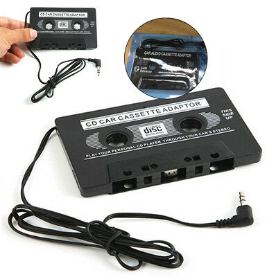 """40"""" Cord Adapter 3.5mm AUX Car Audio Cassette Tape Transmitters for MP3 IPod CD"""
