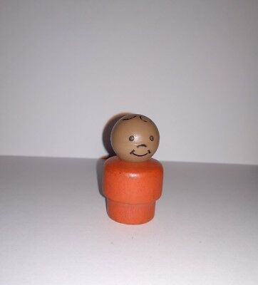 rare Vintage fisher price little people Play Family personnage figure Bois