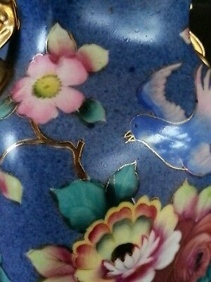 Antique Noritake Japan hand painted porcelain vase 6 inches, early 1900'