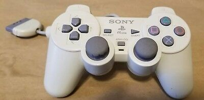 SONY PlayStation PS1 PSOne Controller White SCPH-110