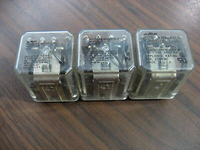 Lot of 3 Potter & Brumfield KUP17D19 Cube Relays (14 Pin Square 12 VDC Coil)