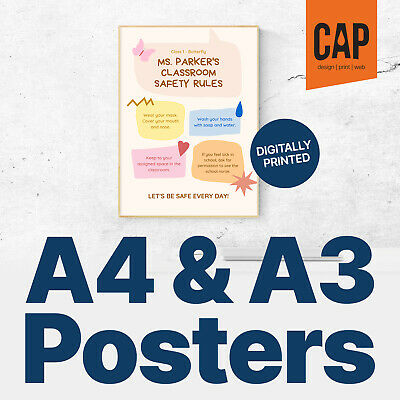 A4 & A3 Poster Printing, 170Gsm / 350Gsm Silk, Cheap A4 & A3 Shop Window Posters