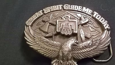Vintage Great Spirit Guide me Today belt buckle