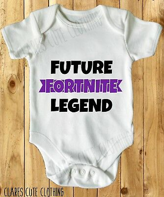 Fortnite inspired  BABY VEST/ GROW WHITE all sizes available