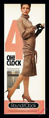 1986 Print Ad~Round the Clock~Pantyhose~4:00~Collect all hours!~1980s~K100