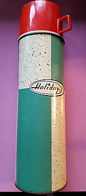 Vintage King-Seeley  Holiday Thermos Green  (Nos)