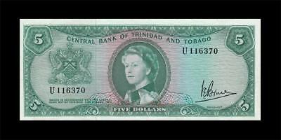 1964 British Colony Trinidad & Tobago Qeii $5 **rare** (( Ef ))