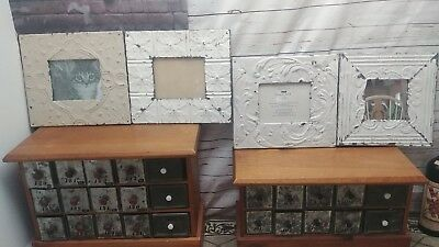 3 Dryads Dancing Ceiling Tin Picture Frames For 8 x 10 Photos & 1 Mirror Lot