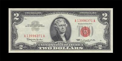 1963 UNITED STATES TWO DOLLARS $2 (( aUNC ))