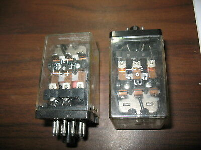 Lot of 2 Potter & Brumfield KAP-14DG-24 Relays (24 VDC, 11 Pin Round)
