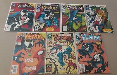 Comic Lot of 7 Venom Lethal Protector 1 2 3 4 5 6 and Funeral Pyre 1