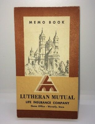 VTG 1972 Advertising LUTHERAN MUTUAL Life Insurance Co Memo Book Waverly Iowa