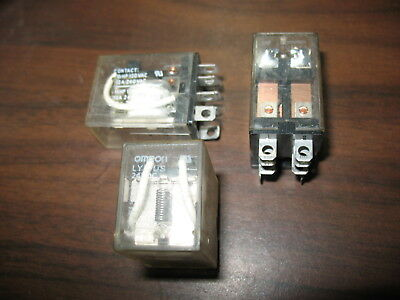 Lot of 3 Omron LY2-US Relays (24 VDC, 8 Pin Square)