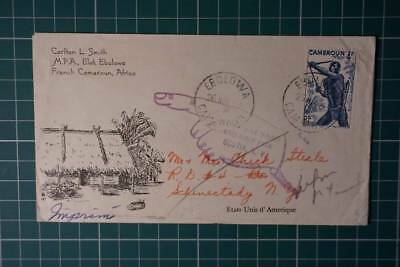 Cameroon 1953 cover return to sender cache