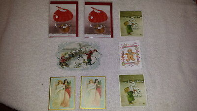 A Collection of 8 Small Christmas Cards,
