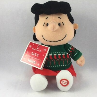 Hallmark Peanuts Lucy Christmas Plush With Sound Angels We Have Heard See Video