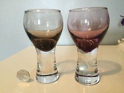 Caithness Glass Goblet x 2 - Drinking Glasses - Mint Condition