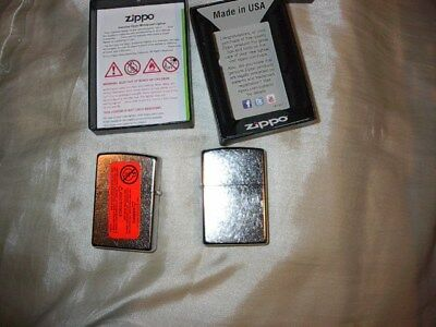 Zippo Lighter Street Chrome #207 U.S.A. New IN box WindProof
