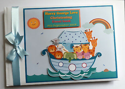 Personalised Noah's Ark Birthday / Baby Shower Guest Book - Any Design