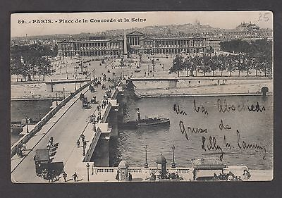 CPA - Carte postale ancienne - Paris - Place de la Concorde - TB