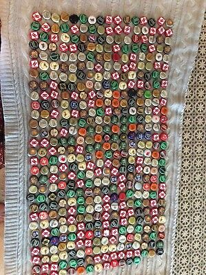 Lot of 461 Assorted Beer Bottle Caps Great for Crafts Many Brands