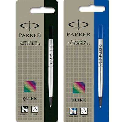 Genuine Parker Rollerball Refill Medium Point 0.7mm Blue / Black