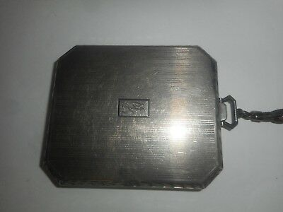 """Sterling Silver """"mjr"""" 100 Years Old 1915 Wallet Case Purse"""